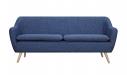 6ixty Luxe Sofa Dark Blue