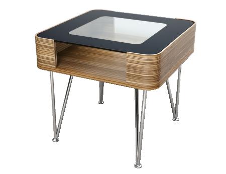 Zine bedside / lamp table
