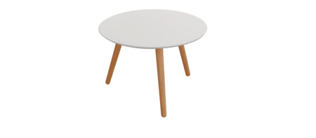 Art Table White Round